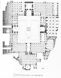 تصویر 1 : پلان کنونی مسجد جامع اصفهان